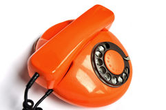 Orange retrophone Royalty Free Stock Images