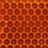 Orange Retroreflector Macro Royalty Free Stock Images