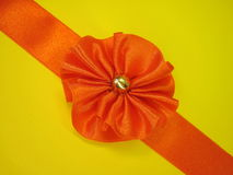 Orange ribbon Royalty Free Stock Photography