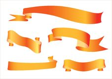 Orange ribbon Stock Photography