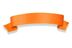Orange Ribbon Banner Stock Photo