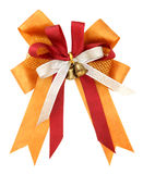 Orange ribbon and bow Isolated on white Stock Photography