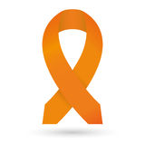 Orange ribbon. Leukemia awareness Royalty Free Stock Photos