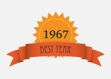 Orange ribbon and number Royalty Free Stock Photos