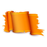 Orange ribbon Stock Image