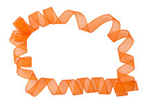 Orange ribbon surronding copyspace Stock Photography