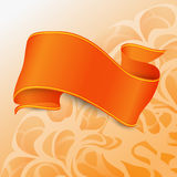 Orange ribbon with yellow and red straights Royalty Free Stock Photo