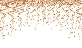 Orange ribbons and confetti Royalty Free Stock Photos