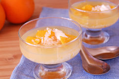 Orange and rice sweet soup Royalty Free Stock Photo