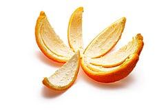 Orange rind. Isolated on white background stock photo