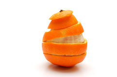 Orange and rind cutout in spiral form royalty free stock photo