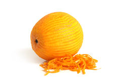 Orange with rind Stock Images