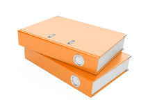 A orange ring binder. Isolated on a white background Royalty Free Stock Photos