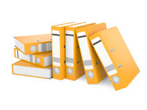 A orange ring binder. On a white background Royalty Free Stock Photography