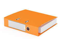 Orange ring binder, 3D rendering Stock Image