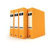 Orange ring binders Royalty Free Stock Image