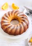 Orange ring cake Stock Photos