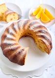 Orange ring cake Royalty Free Stock Photos