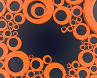 Orange ring - 3d illustration royalty free stock photo