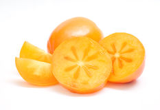 Orange ripe persimmons Royalty Free Stock Photo