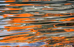 Orange ripples background Royalty Free Stock Photography