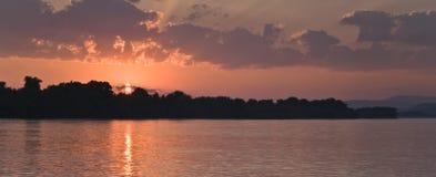 Orange river. Sunset near the big river Stock Image