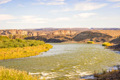 Orange River Namibia and South Africa border Royalty Free Stock Photo