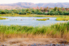 Orange River Namibia and South Africa border Stock Image