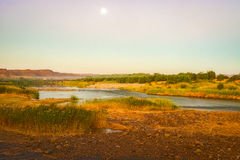 Orange River Namibia and South Africa border Royalty Free Stock Image