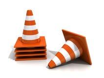 Orange road cones Stock Images