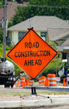 Road construction sign Stock Images