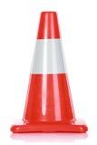Orange Road Hazard cone. Over white background stock photo
