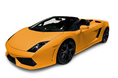 Lamborghini Gallardo isolated on white Stock Images