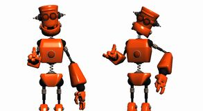 Orange robots Royalty Free Stock Image