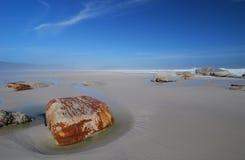 Orange rock. Beach scene at Cape Town with orange rock Royalty Free Stock Image