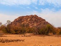 Orange rock formation of Damaraland Royalty Free Stock Photo
