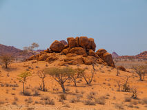 Orange rock formation of Damaraland Stock Photography