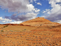 Orange rock formations in Utah desert Stock Photography