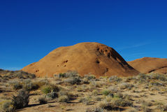 Orange rock hills near Dance Hall Rock Stock Photo