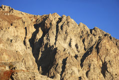 Orange rock in the mountains of Tien Shan Royalty Free Stock Images