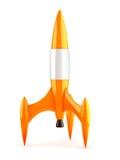 Orange rocket Royalty Free Stock Images