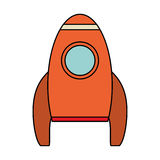 Orange rocket space travel. Illustration eps 10 stock illustration