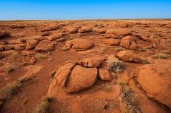 Orange rocks in the desert. Arizona afternoon royalty free stock image