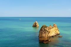 Free Orange Rocks In The Atlantic Ocean Stock Photo - 23026890