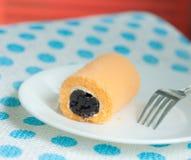 Orange roll cake Royalty Free Stock Image