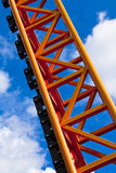 Orange rollercoaster scaffold Royalty Free Stock Images