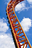 Orange rollercoaster scaffold Stock Photography