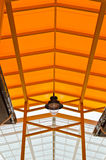 Orange Roof And Steel Structure Stock Image