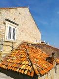 Orange roof stock images
