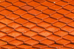 Orange roof for pattern and background Royalty Free Stock Image